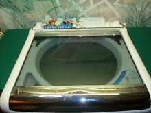 GENUINE WHIRLPOOL CABRIO WASHING MACHINE TOP COVER DOOR FROM MODEL WTW8600YWO