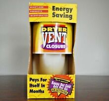 ENERGY SAVINGS  Heartland Products INC  Dryer Vent Closure Extension 21000 B5