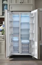 36  BUILT IN SIDE BY SIDE REFRIGERATOR FREEZER   PANEL READY