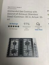 Kitchen Aid Gas Cooktop W Downward Draft Exhaust 30in
