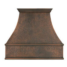 48  L x 42  H Tuscan Series Copper Wall Mount Range Hood Hood Only