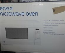 Ge  countertop microwave oven white 1 4 cubic  1100watts