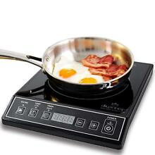 Electric Induction Cooktop Portable Stove Kitchen Countertop Black Used 1800Watt