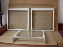 Whirlpool Refrigerator Glass Shelf in Frame Lot of 3 Part   2194281