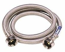 WASHING MACHINE HOSE 48 IN  STAINLESS STEEL
