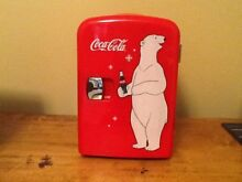 COCA COLA ELECTRIC MINI FRIDGE PORTABLE HOT OR COLD MODES NEW NEVER USED  NO BOX