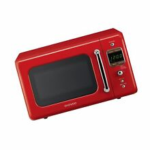 Daewoo KOR 7LRER Retro Countertop Microwave Oven 0 7 Cu  Ft  700W   Pure Red