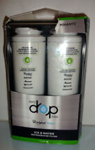 2 Pack  EveryDrop Whirlpool Water EDR4RXD2 Filter 4 Refrigerator Water Filter