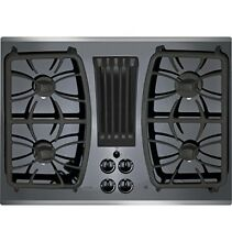 GE Profile Gas Downdraft Cooktop PGP9830SJSS Black Glass w Stainless Steel Trim
