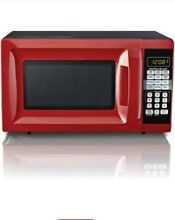 Hamilton Beach 0 7 cu ft Microwave Oven Red Countertop Kitchen Digital Watts NEW