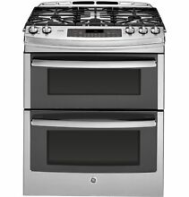 GE PGS950SEFSS Profile  Series 30  Slide In Front Control Double Oven Gas Range