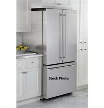 GE Monogram 36  Free Standing Double Door Bottom Freezer Refrigerator ZWE23ESHSS