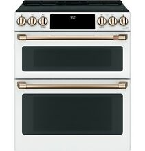GE Caf  CHS950P4MW2 30  Slide In Induction and Convection Double Oven Range