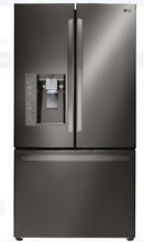 LG LFXC24726D 36 In Counter Depth Black Stainless Steel French Door Refrigerator