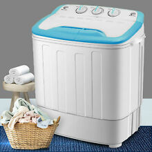 New Top Load Mini Washing Machine Compact Twin Tub 13LBS Washer Spin Dryer White