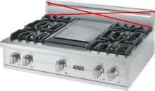 Viking Professional Series 36  4 Burner Griddle Pro Style Gas Range VGRT5364GSS