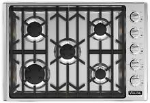 Viking Professional 5 30  18 000 BTU Power Burner Gas Cooktop VGSU5305BSSNG IMG