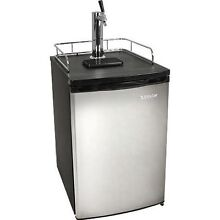 Full Size Stainless Steel Kegerator Fridge  Edgestar Draft Beer Keg Refrigerator