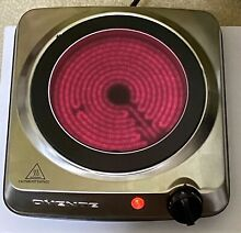 Infrared Ceramic Glass Burner Single Hot Plate Stove Stainless Steel Electric 1