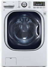 LG TurboWash Series WM3997HWA 27 Inch White Electric Washer Dryer Combo