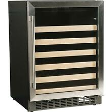 Azure 24 inch 48 Bottle Wine Cooler   Stainless Steel