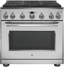 GE Caf  C2Y366SELSS Series 36  Dual Fuel Professional Range with 6 Burners