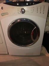 GE front load washing machine used about 6 years old white