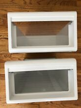 TWO Sub Zero Food Refrigerator Cubby Drawers 690  S  18 x 12 x 7
