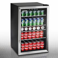 Beverage Cooler with Glass Door Wine Refrigerator Under Counter Compact 126 Can