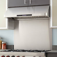 Signature Hardware 30  Stainless Steel Range Hood Backsplash