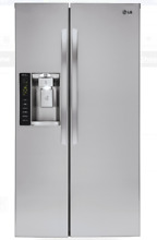 LG LSXS26326S 36 Inch Stainless Steel Side by Side Refrigerator