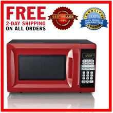 Hamilton Beach 0 7 CU FT Microwave Oven Kitchen LED Display Stainless Red New US