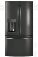 GE GFD28GBLTS 36 In Black Stainless Steel French Door Refrigerator