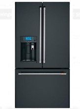 GE Cafe CYE22UP3MD1 36 In Matte Black Counter Depth French Door Refrigerator