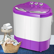 9 9LBS Portable Mini Washing Machine Laundry Washer And Dryer Compact Twin Tub