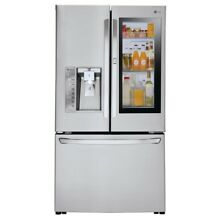 24 cu  ft  3 Door French Door Smart Refrigerator with InstaView Door in Door in