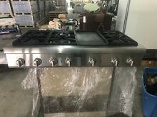 48  Thermador Stainless Range Top  PCG486gd  6  griddle