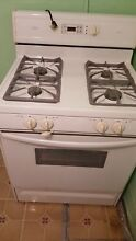Amana Range Model ARG7302WW Oven Door Glass White 30  Gas Oven Stove