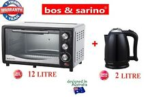 BOS   SARINO 12L Toaster BBQ Oven   2L Cordless Kettle Stainless Steel Package