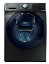 Samsung WF45K6500AV A2 4 5 cu  ft  Front Load Washer w  AddWash Black Stainless