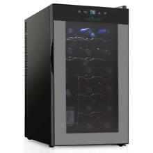 Nutrichef Thermoelectric 18 Bottle Wine Cooler Refrigerator   Red  White