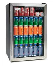 Igloo IBC41SS 180 Can Stainless Steel Glass Door Beverage Center