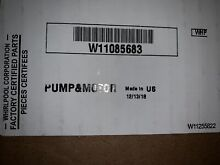 W11085683 New Whirlpool Dishwasher Motor   Pump Assembly  OEM Factory Part