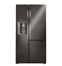 LG 36  Side by Side Door In Door Black Stainless Steel Refrigerator LSXS26366D