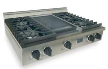 FiveStar Stainless PRO 36  Commercial Style 4 Burner Cooktop w Griddle