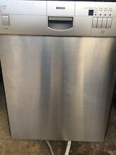 Bosch 24  Stainless Steel Built In Recessed Handle Dishwasher