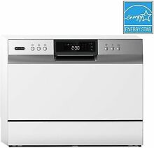 Whynter CDW 6831WES Countertop Portable Dishwasher 6 Place Setting LED  White