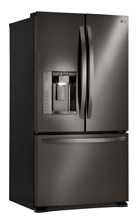 LG 36  French Door Refrigerator   Black Stainless   Bottom Freezer   LFX25973D