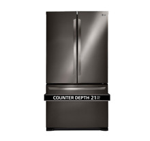 LG 36 in  Counter Depth French Door Refrigerator Black Stainless Steel LFC21776D