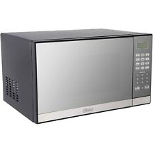 Oster 1 3 Cu Ft  1000 Watts Microwave Oven with Grill Resistant Mirror Finish